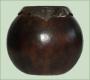 Калабас (Матэ) из тыквочки с отделкой из никелированной бронзы